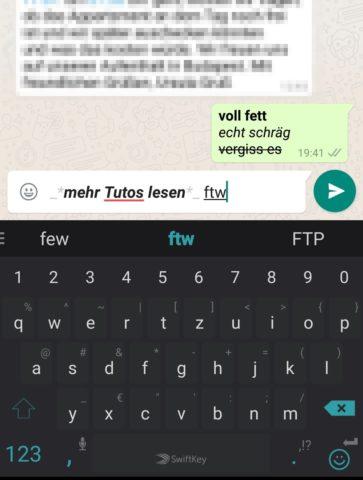 WhatsApp formatieren