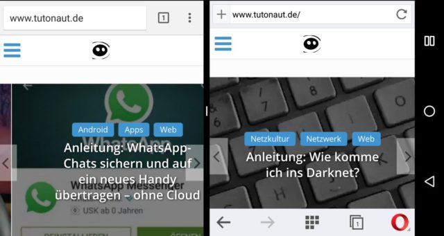 Android 7 Split Screen