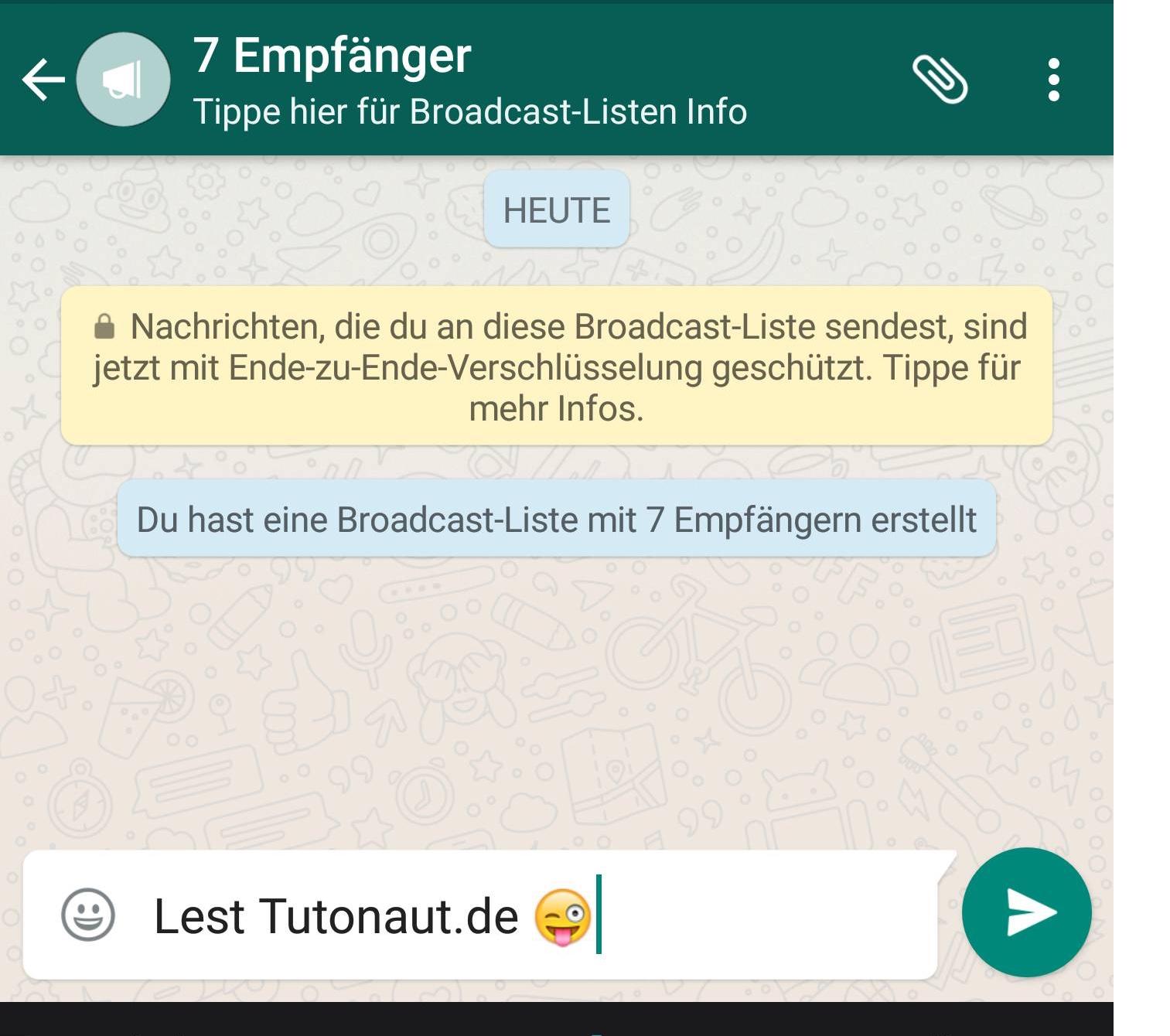 Nachrichten versenden whatsapp anonym WhatsApp Nachricht