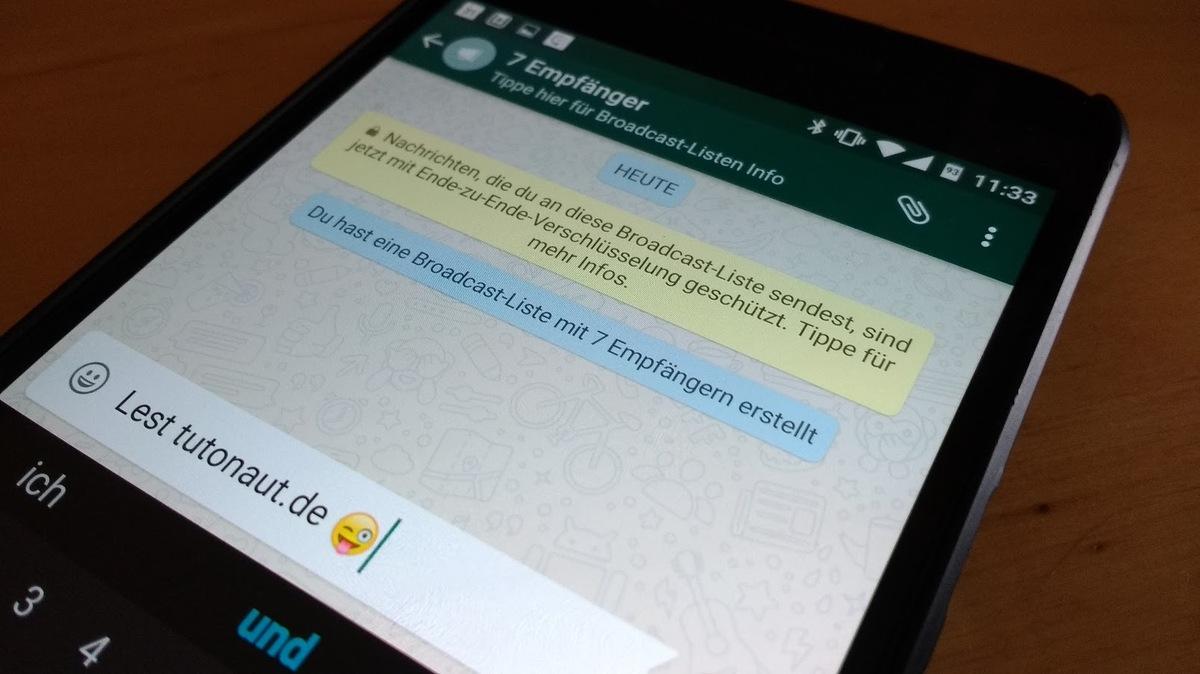 Whatsapp Nachrichten Ohne Gruppen An Mehrere Kontakte Schicken