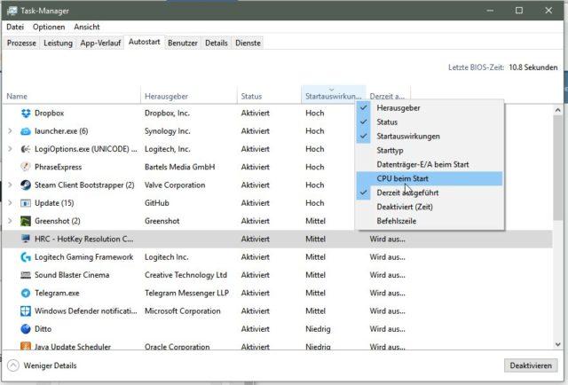 Task-Manager erweiterte Infos