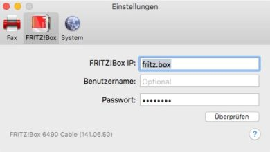 Bild von Faxversand mit dem Mac und der FritzBox