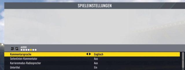 Einmal installiert könnt Ihr FIFA 17 auch mit englischen Kommentatoren zocken