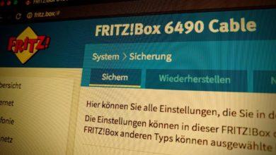 Bild von Fritzbox-Einstellungen sichern und wiederherstellen