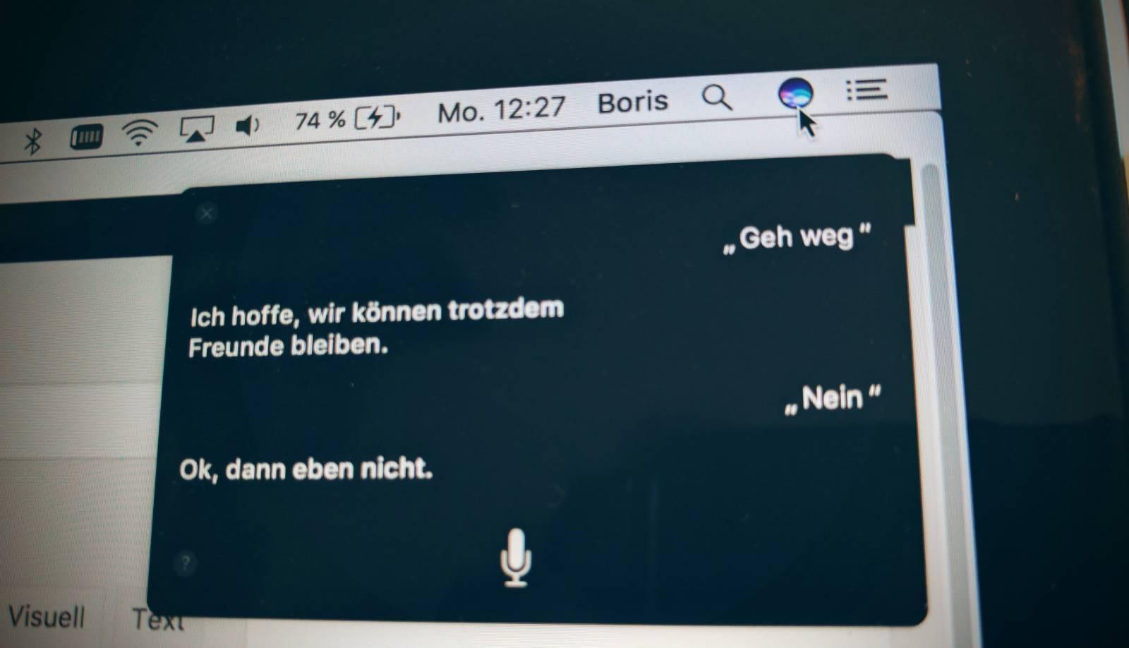 Siri auf dem Mac