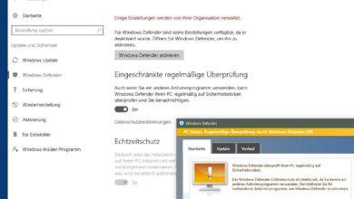 Bild von Windows Defender als zusätzlichen Virenscanner einrichten