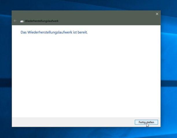 Windows 10 Wiederherstellungslaufwerk