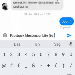 Facebook Messenger Lite Chats