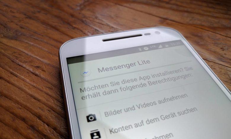 Facebook Messenger Lite Installation