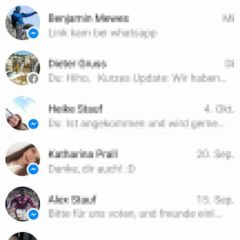 Facebook Messenger Lite Startseite
