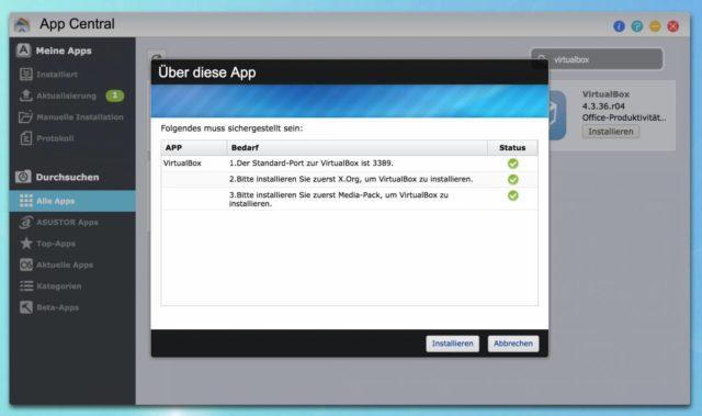 VirtualBox NAS