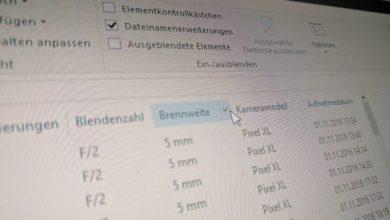 Bild von Zusätzliche Dateiinformationen im Windows Explorer einblenden