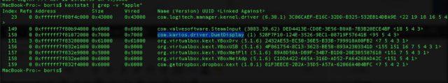 macOS Terminal Fehler Treiber