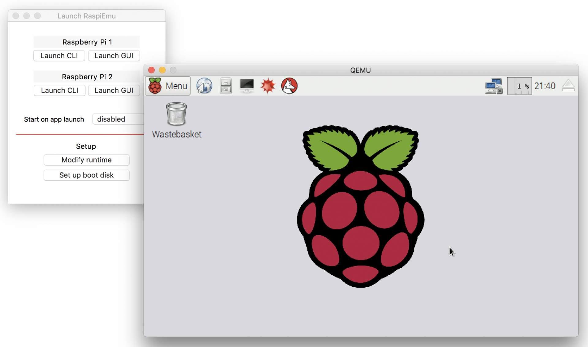 Wenn Ihr dieses Fenster seht, hat alles geklappt: Der Raspberry Pi läuft als Emulation auf Eurem Mac.