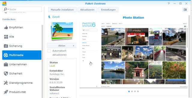 Synology Photo Station installieren