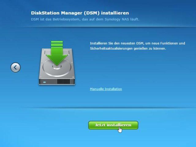 Diskstation Manager neu installieren