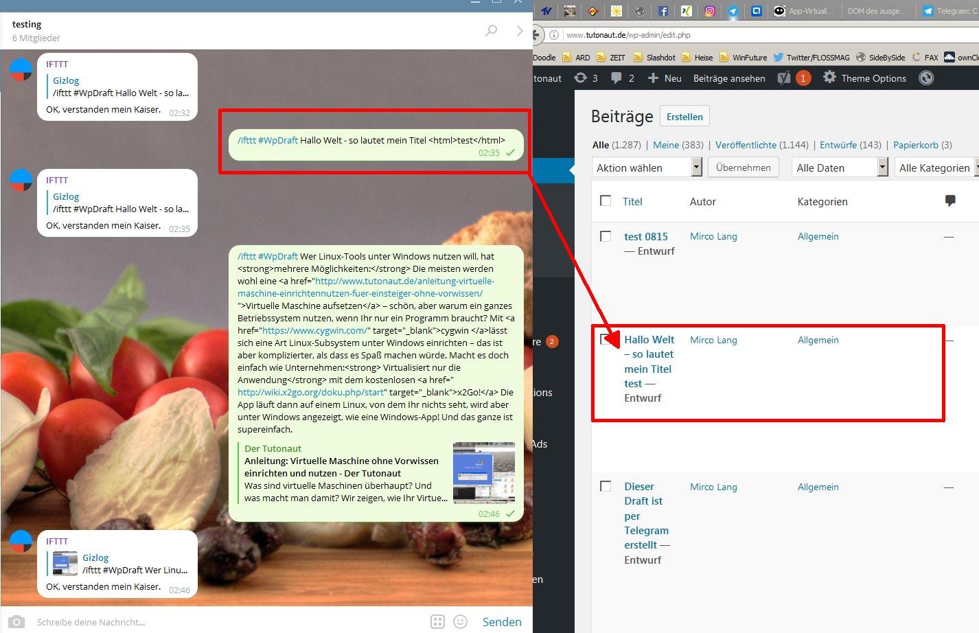 telegram-ifttt-wordpress