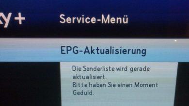 Bild von Sky: EPG wird gerade aktualisiert und hört nicht auf – hier die Lösung