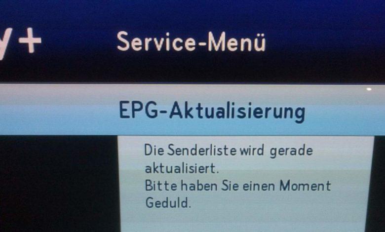 Sky EPG Sendeliste