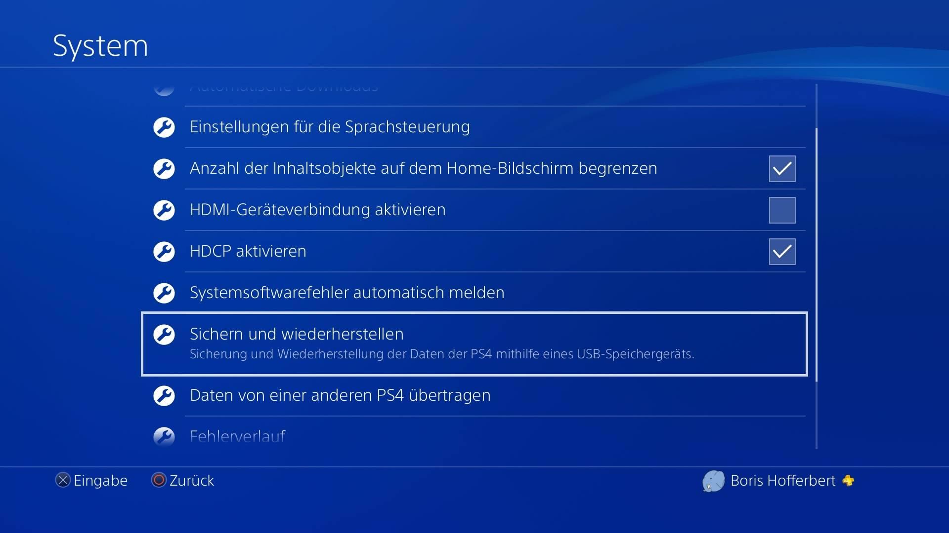 Anleitung: PS4 Backup Sicherung der PlayStation 4 auf