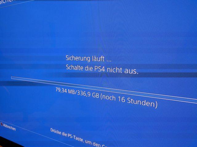 PS4-Sicherung