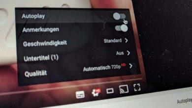 Bild von Autoplay von YouTube-Videos abschalten