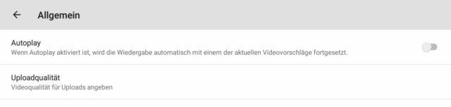 YouTube Einstellungen