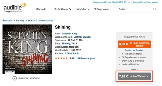 Audible Geld sparen