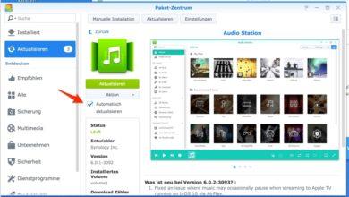 Bild von App-Pakete auf Synology-NAS automatisch aktualisieren