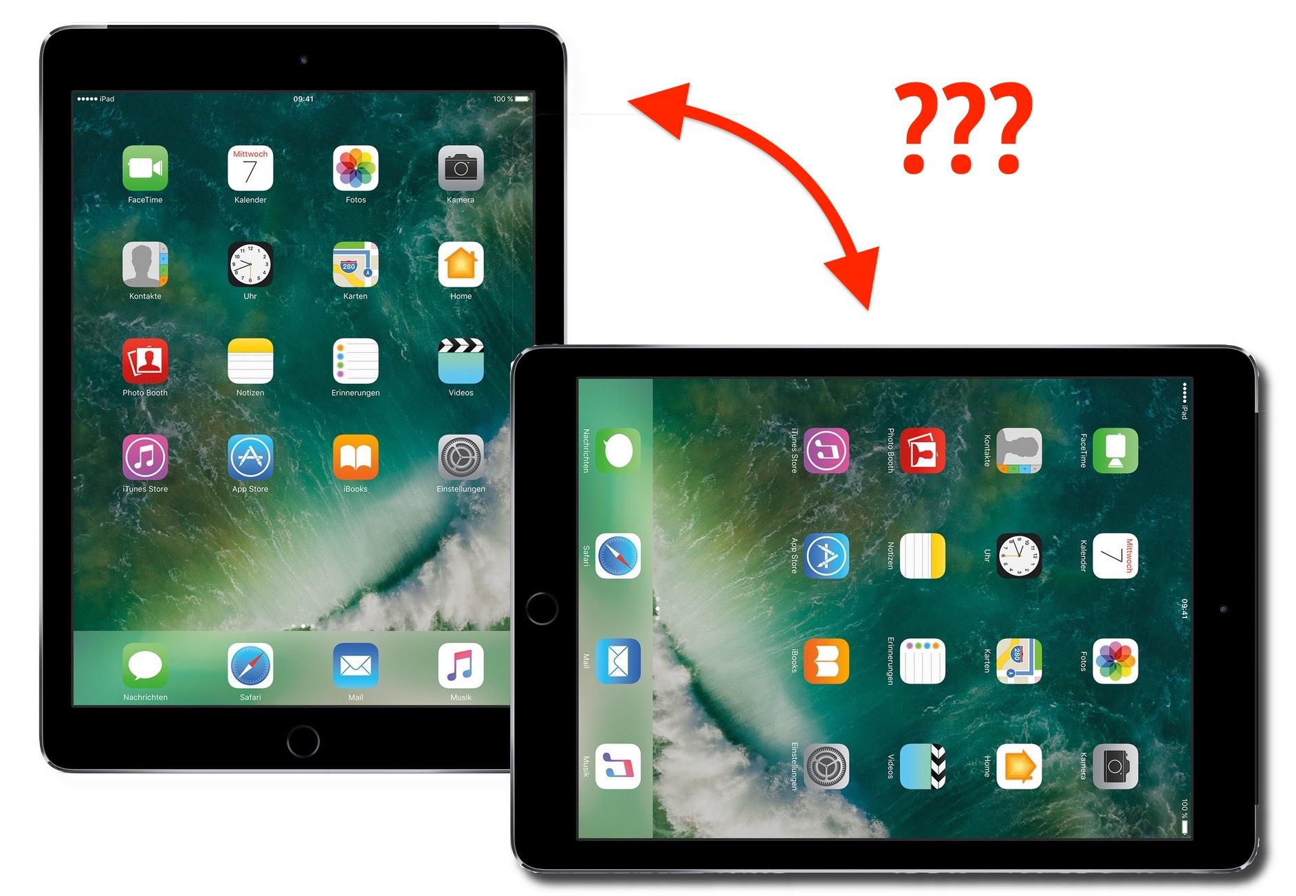 iPad-Drehung