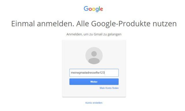 GMail Startseite