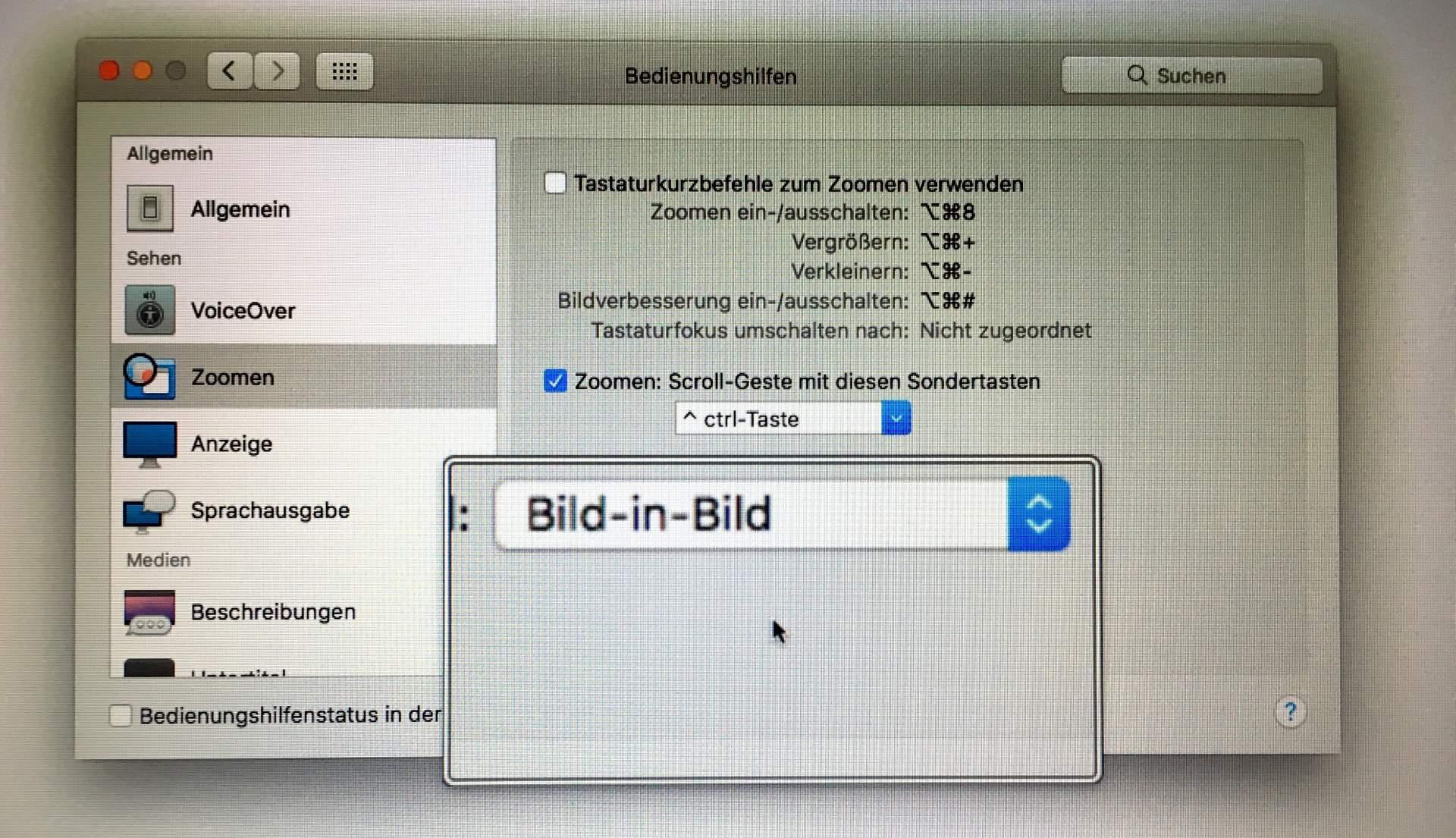MacOS-Bildschirmlupe