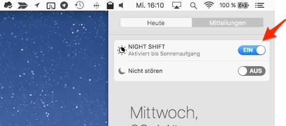 Night Shift Mitteilungszentrale