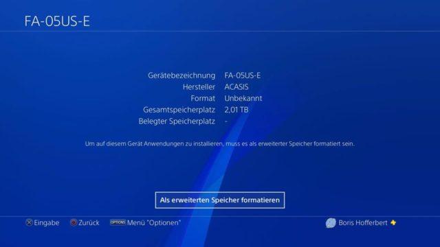 PlayStation 4 Festplatte formatieren