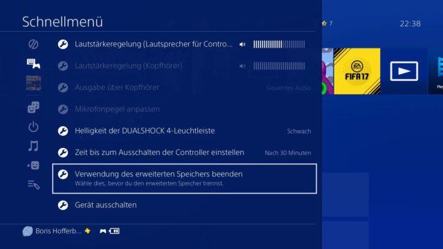 PS4 Festplatte entfernen