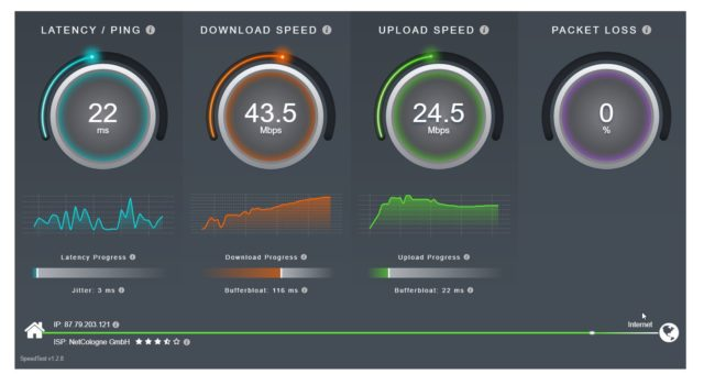 SourceForge Speedtest
