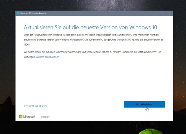 Windows 10 Creators Update Installation