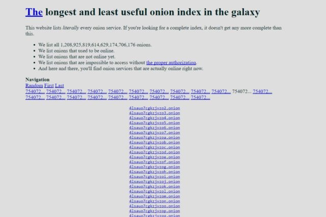 Darknet Index