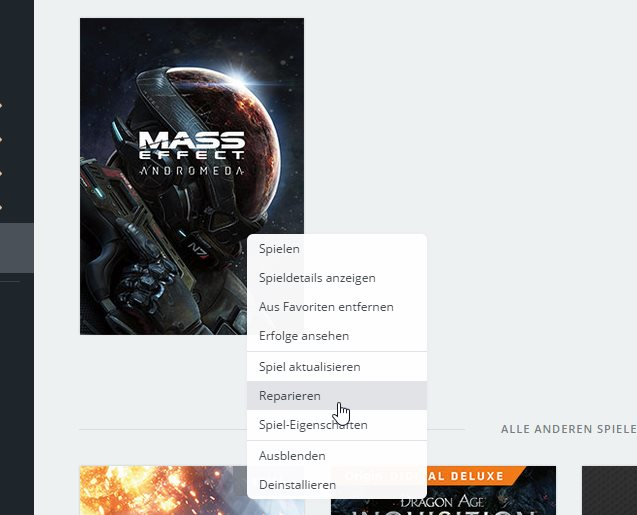Mass Effect: Andromeda Sprache