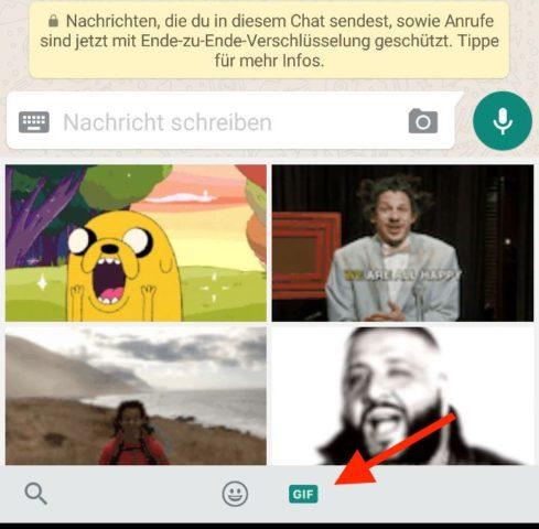 GIF-Suche Whatsapp
