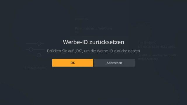 Amazon Werbe-ID zurücksetzen