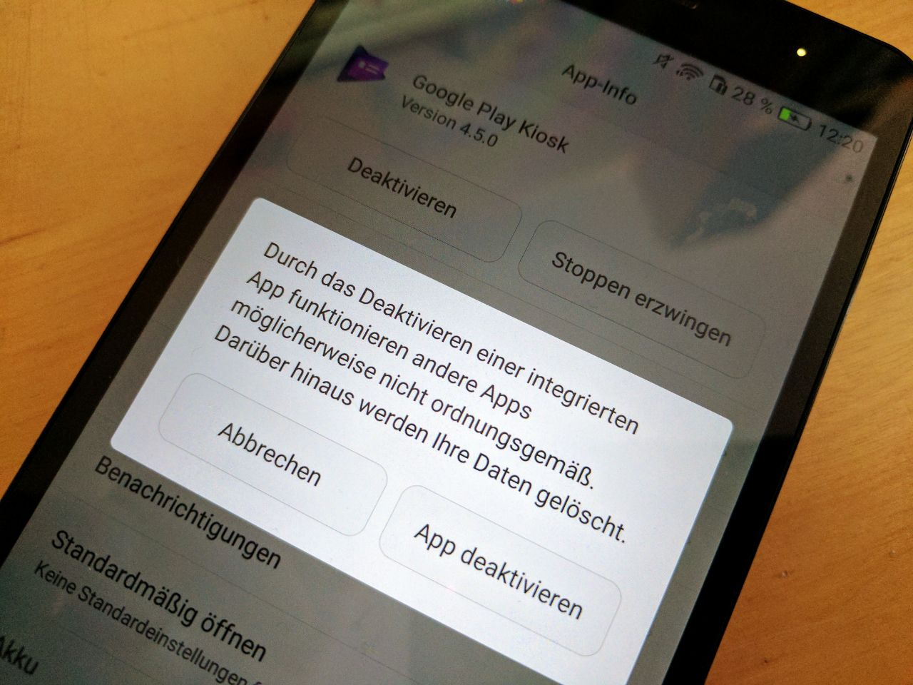 Android vorinstallierte Apps
