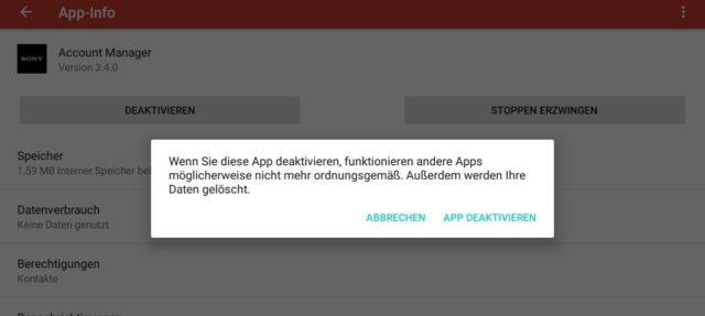 Android Apps deaktivieren
