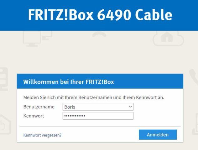 Fritzbox Anmeldung