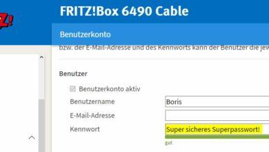 Bild von Anleitung: Fritzbox-Passwort nachträglich ändern