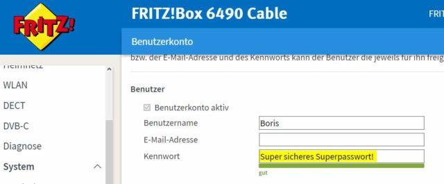 Fritzbox-Passwort