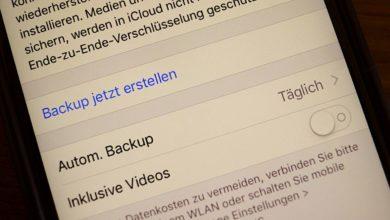 WhatsApp-Sicherung