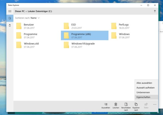 Windows 10 Touch Explorer