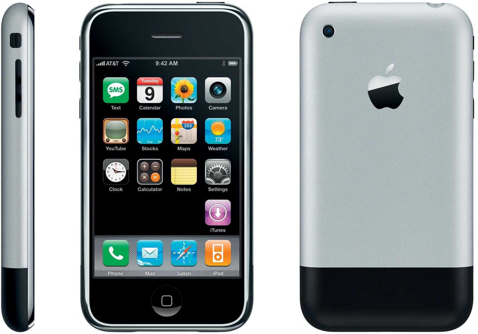 Teurer Nichtskönner: Das iPhone 1 war eher ein Prestige-Objekt.