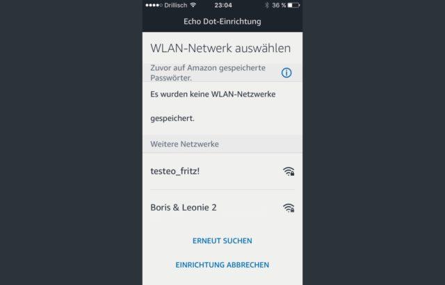 Amazon Echo WLAn aktivieren